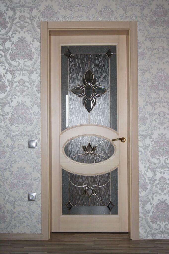 Межкомнатная дверь, отбеленная лиственница
