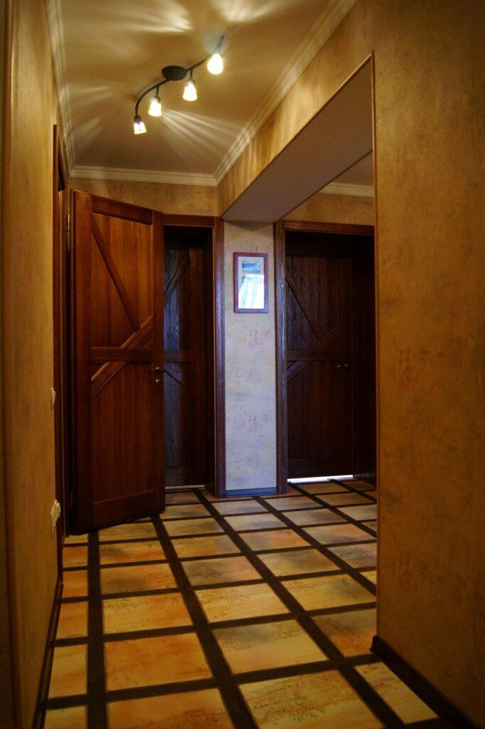 Межкомнатные двери, брашированная сосна