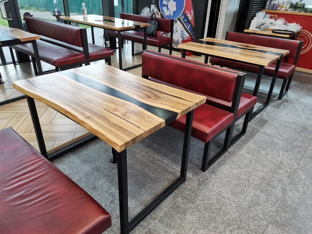 Обеденные столы со слэбами